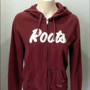 Roots Canada Hoodie Burgundy Women's Jacket Size M